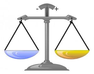 Il modello della bilancia per il canale b di Lab, così come è spiegato nel mio videocorso sull'argomento pubblicato da Teacher-in-a-Box.