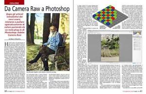 Le prime due pagine dell'articolo su Fotografia Reflex di settembre.
