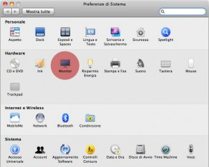 Mac OS X (Snow Leopard): preferenze di sistema.