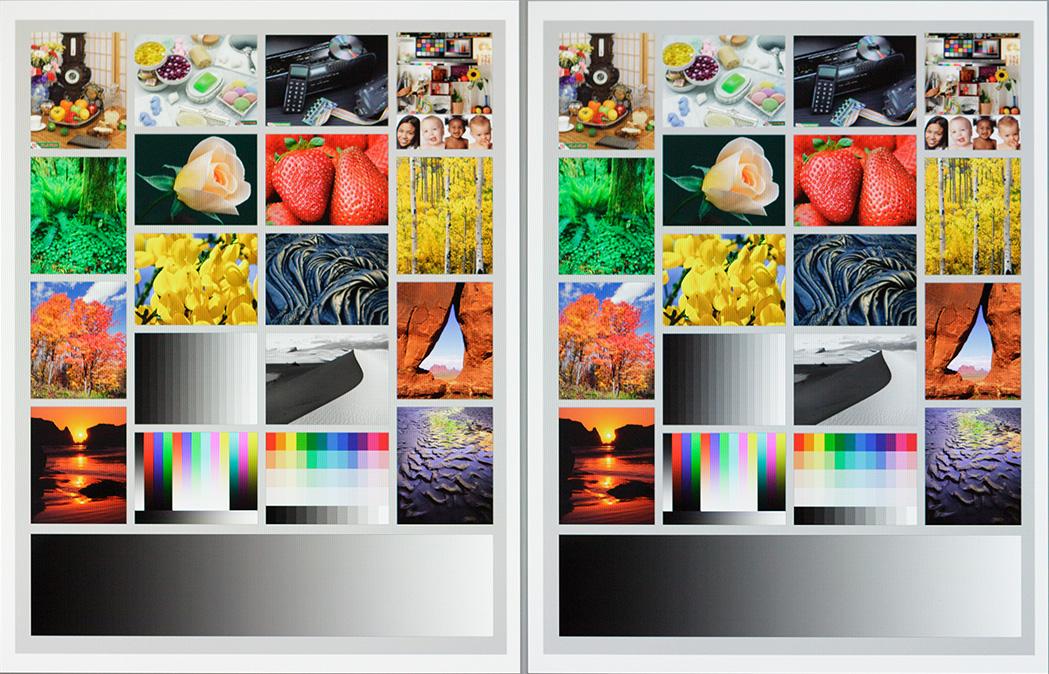 A sinistra: un'immagine test sul monitor del mio iMac profilato con il punto di bianco D50; a destra: la stessa immagine, ma con il punto di bianco D55.