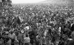 Il festival dell'Isola di Wight nel 1970. (Fotografo sconosciuto)