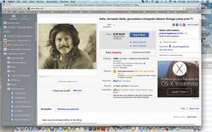 Una foto originale che ritrae Armando più di 40 anni fa: in vendita illegalmente su ebay.