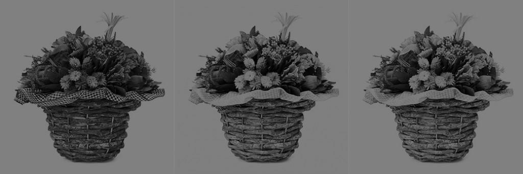 Un'altra versione in bianco e nero, ottenuta denaturando completamente le tre versioni con la dominante.