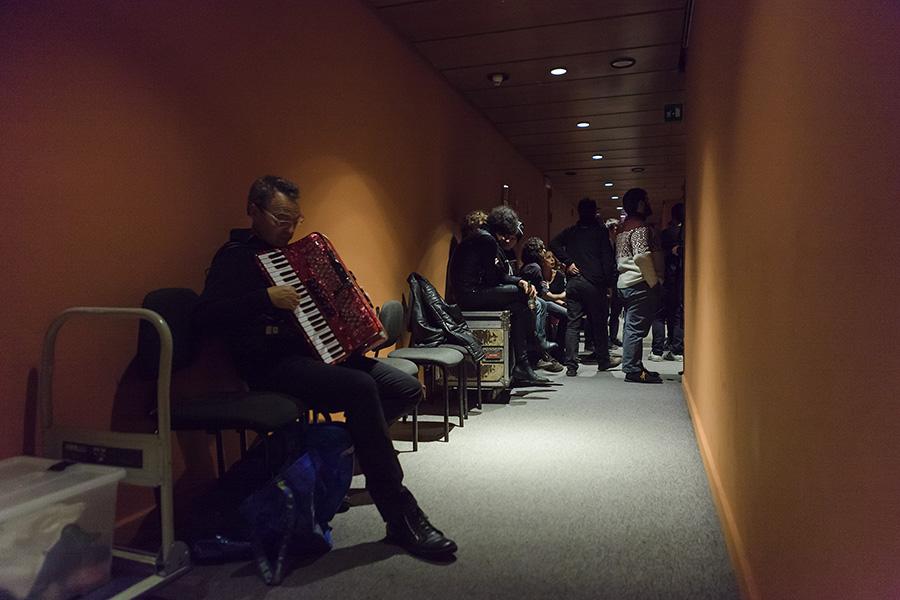Antonio Aiazzi prova prima del concerto di EEEP