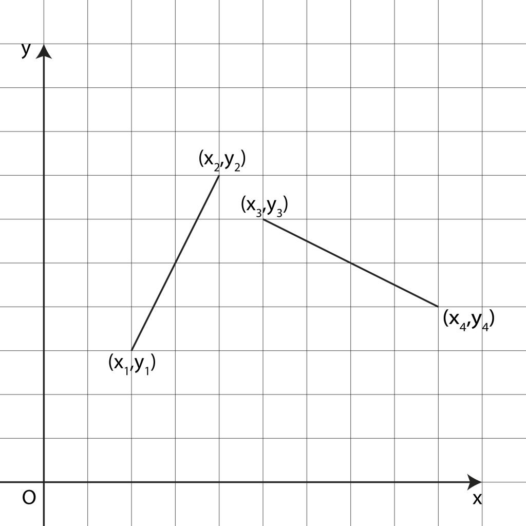 Due segmenti in uno spazio euclideo a due dimensioni
